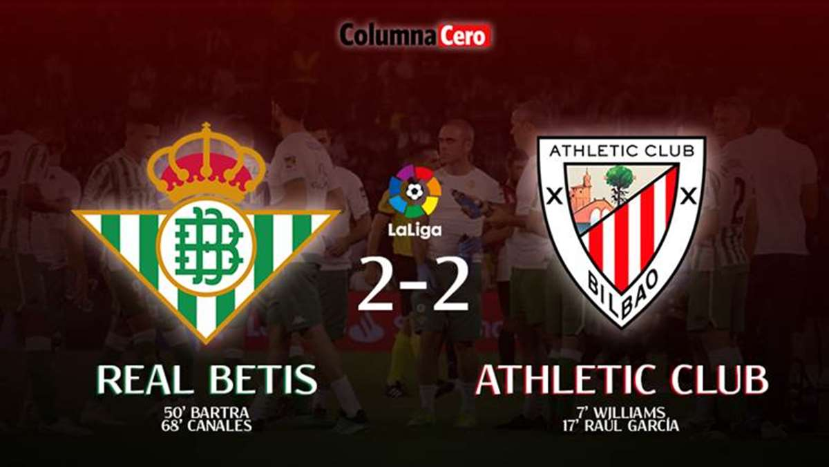 Real Betis 2-2 Athletic Club: empate con raza que sabe a derrota