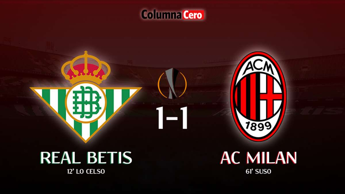 Real Betis 1-1 AC Milan: tablas imposibles de resolver