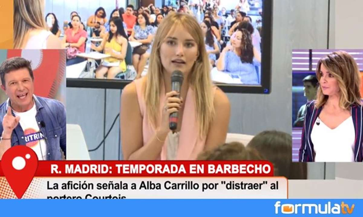 Alba Carrillo estalla contra Courtois, el Madrid, los
