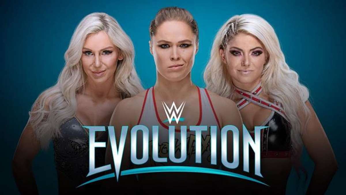 Cartel promocional del PPV de WWE: Evolution (WWE.com)