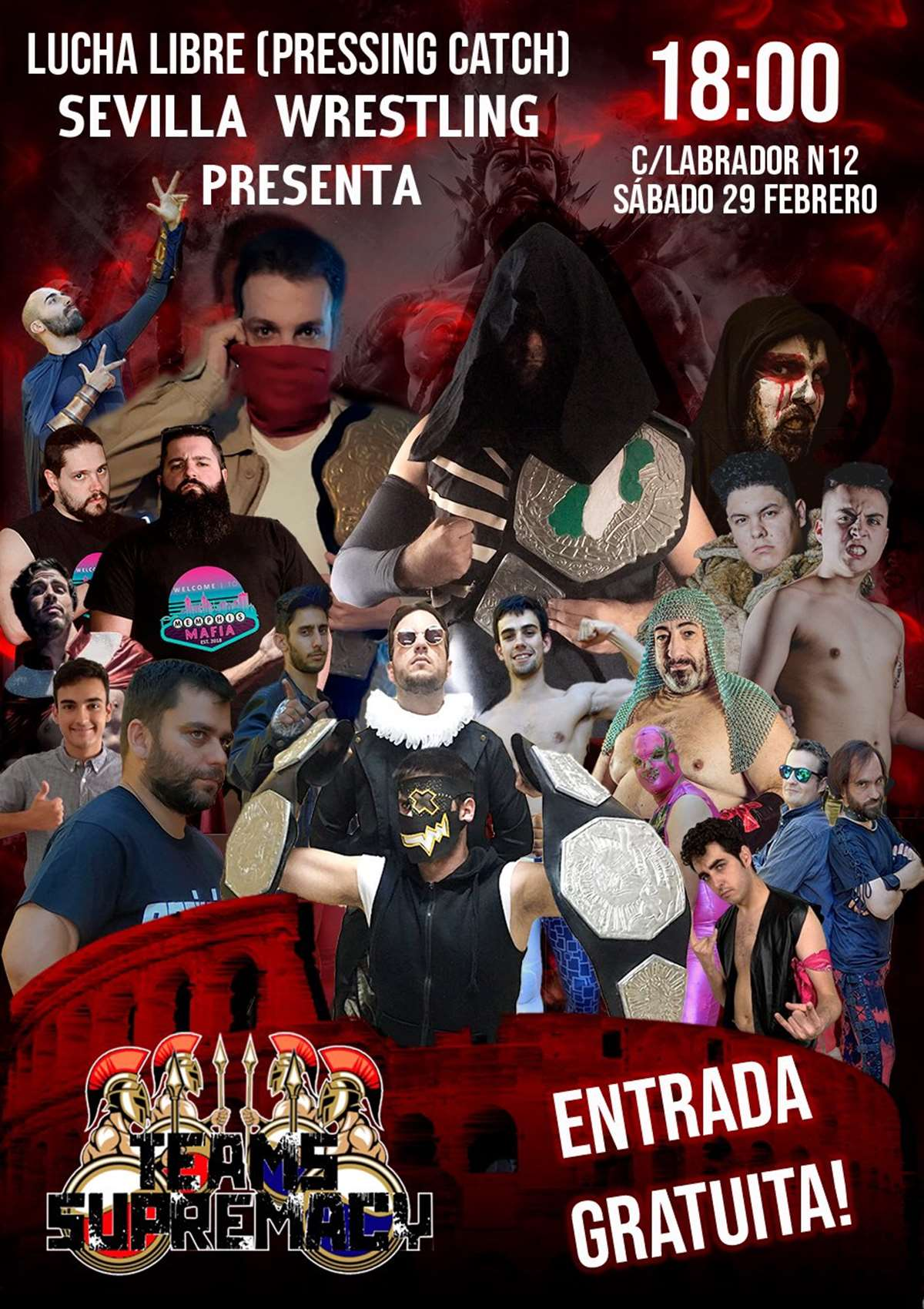 Sevilla Wrestling presenta su evento Teams Supremacy