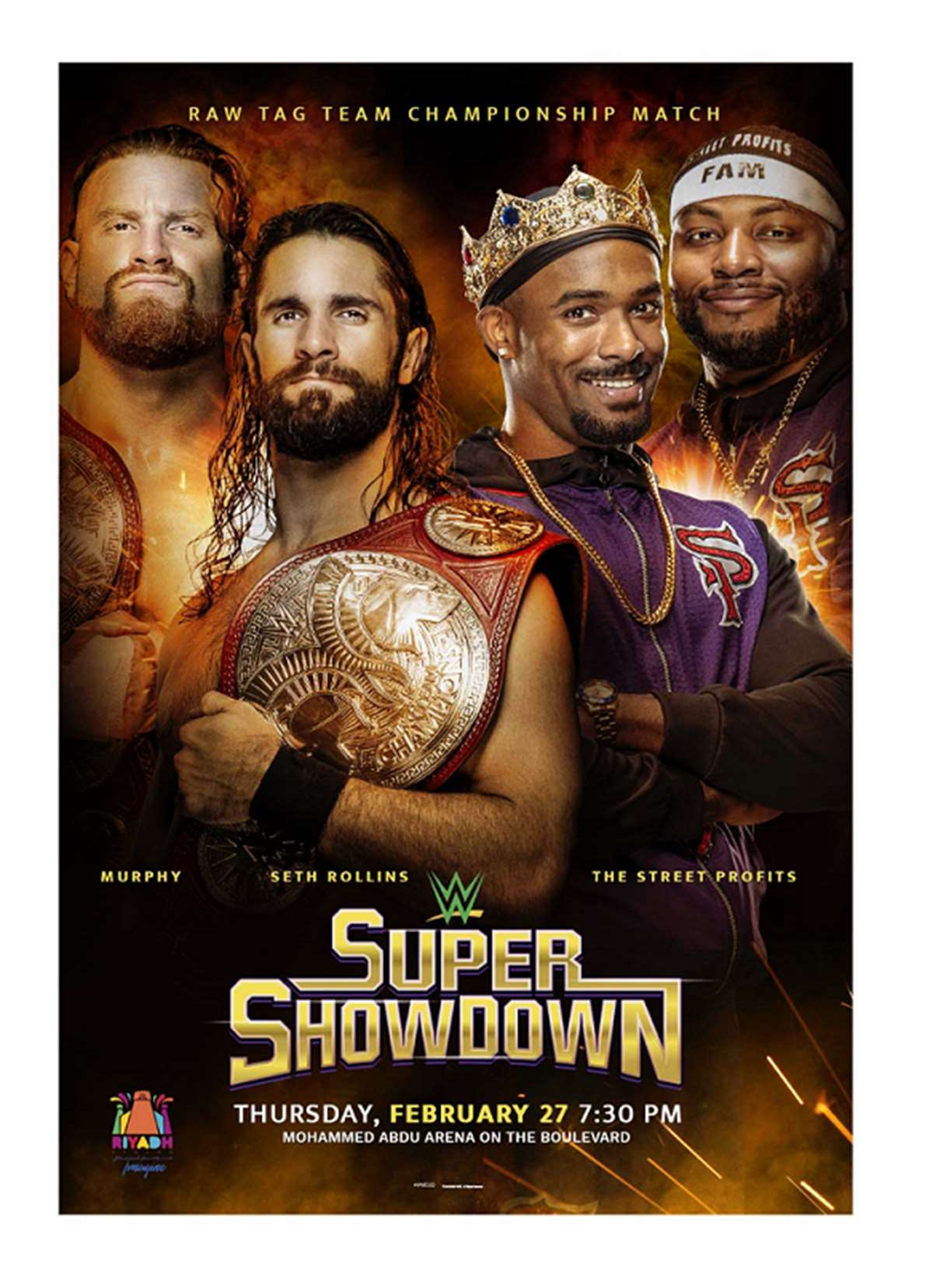 Cartel promocional Super ShowDown 2020 (WWE)