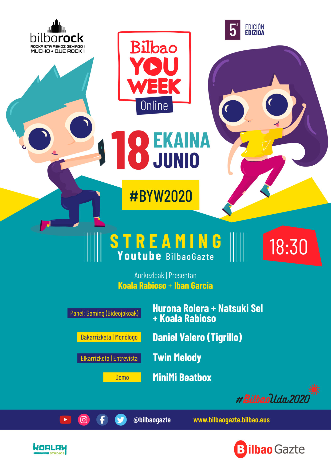 Programa #BilbaoYouWeek vía streaming