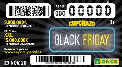 Black Friday en el cuponazo de la ONCE
