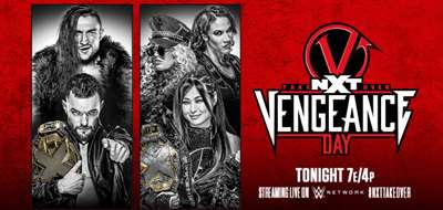WWE: Cartelera final NXT TakeOver: Vengeance Day